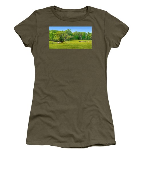 Flowering Cow Pasture Women's T-Shirt (Athletic Fit)