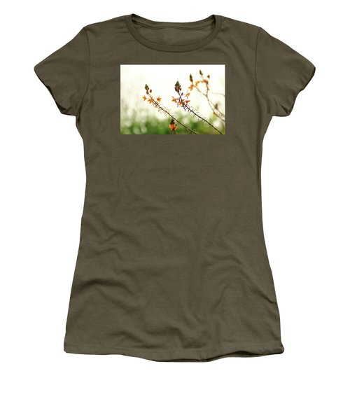 Flowering In Israel At The Sunset Women's T-Shirt (Junior Cut) by Yoel Koskas