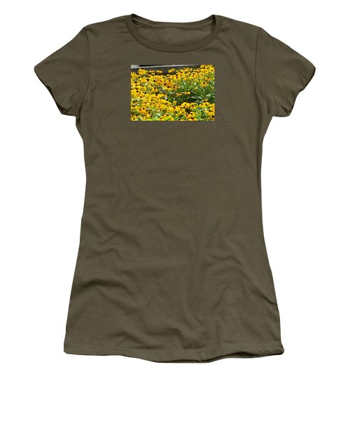 Flowers A Go Go Women's T-Shirt (Junior Cut) by Jake Hartz