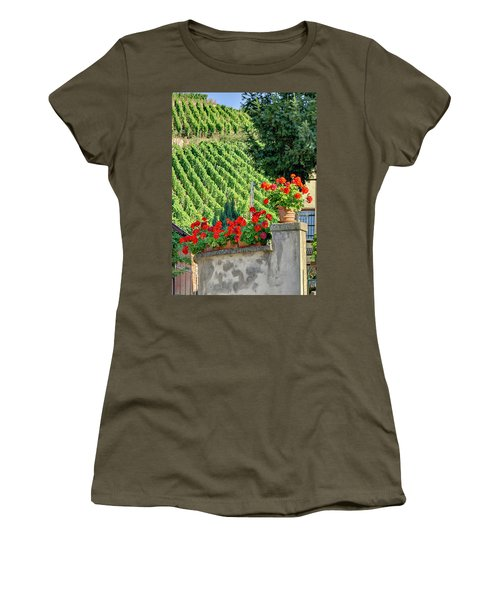 Women's T-Shirt (Junior Cut) featuring the photograph Flowers And Vines by Alan Toepfer
