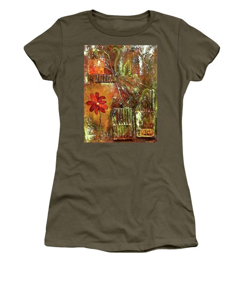 Flowers Grow Anywhere Women's T-Shirt