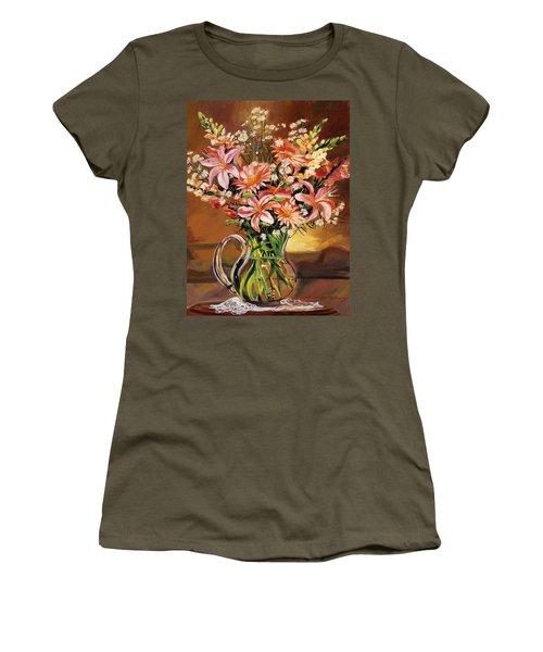Flowers In Glass Women's T-Shirt