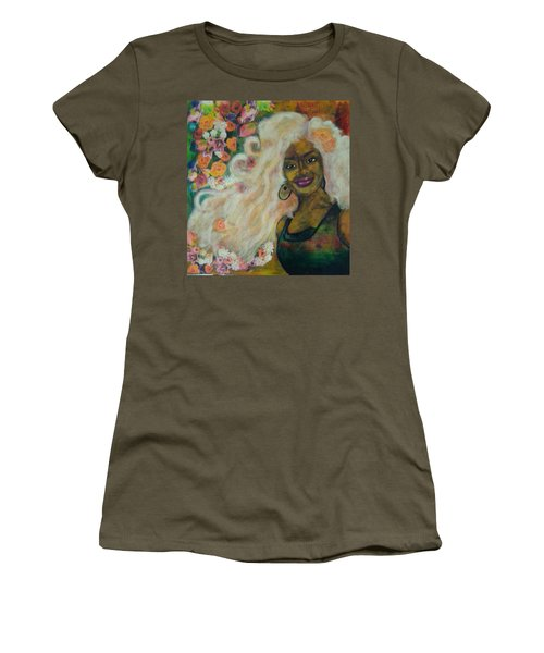 Flowers In Her Hair Women's T-Shirt (Athletic Fit)