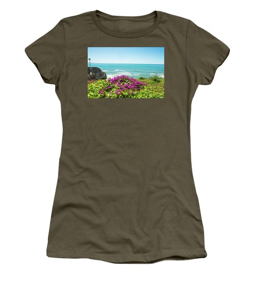 Flowers On The Cliff Women's T-Shirt