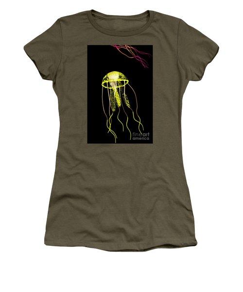 Flows Of Yellow Marine Life Women's T-Shirt