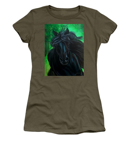 Women's T-Shirt (Athletic Fit) featuring the painting Fluing High by Thomas Lupari