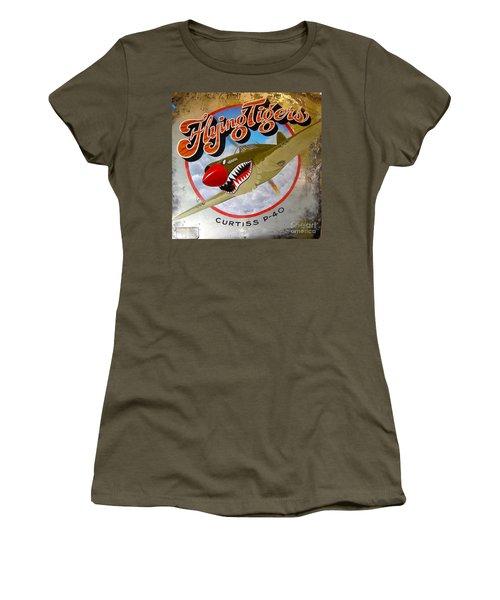 Flying Tigers Women's T-Shirt (Junior Cut) by Alan Johnson