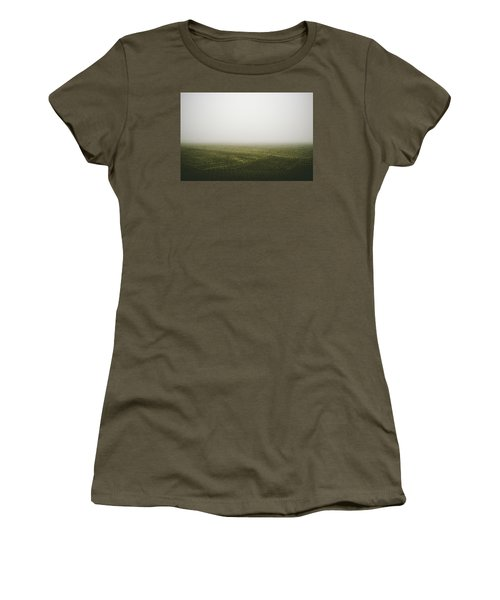 Foggy Autumn Morning Women's T-Shirt (Junior Cut) by Cesare Bargiggia