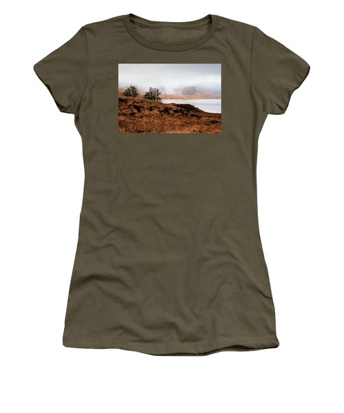 Foggy Day At Loch Arklet Women's T-Shirt (Junior Cut) by Jeremy Lavender Photography