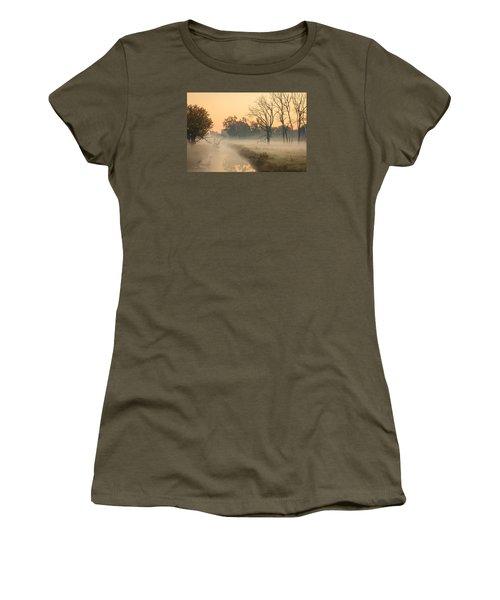 Foggy Fall Morning On Gary Avenue Women's T-Shirt (Junior Cut) by Joni Eskridge