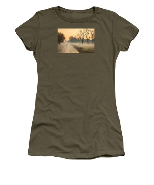 Foggy Fall Morning On Gary Avenue Women's T-Shirt (Athletic Fit)