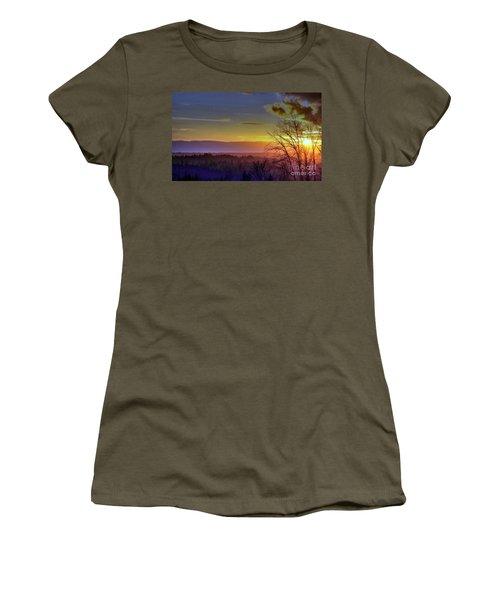 Foggy Sunset Women's T-Shirt (Junior Cut) by Victor K