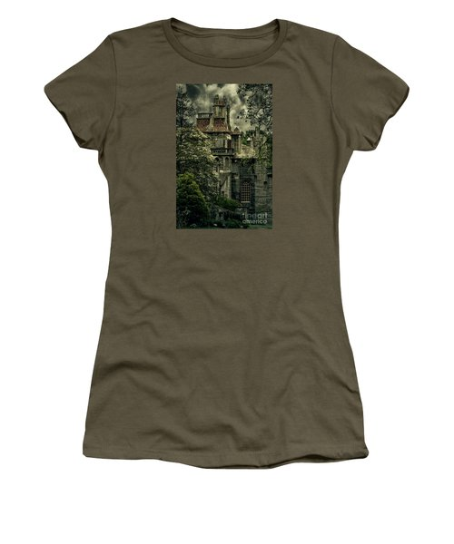 Fonthill With Storm Clouds Women's T-Shirt (Junior Cut) by Debra Fedchin