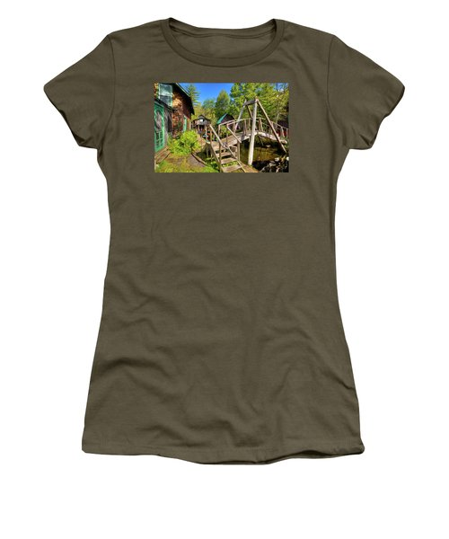 Women's T-Shirt (Athletic Fit) featuring the photograph Footbridge At Palmer Point by David Patterson