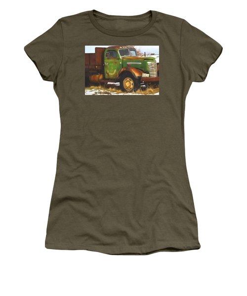 Ford Farm Truck Painterly Impressions Women's T-Shirt