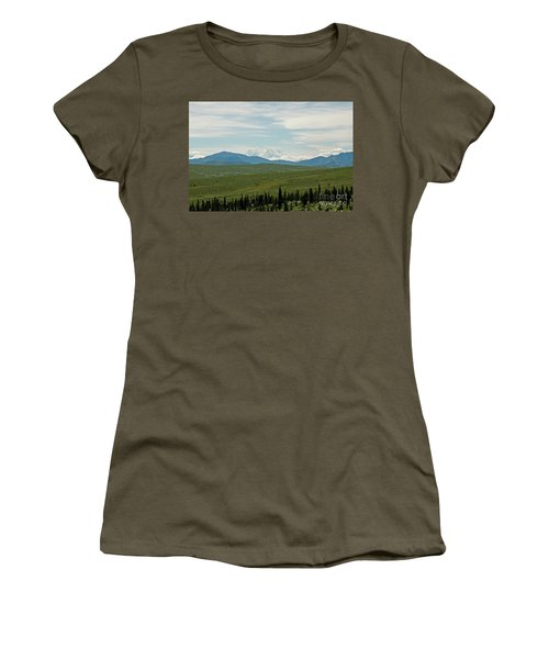 Foreground And Mountain Women's T-Shirt (Athletic Fit)