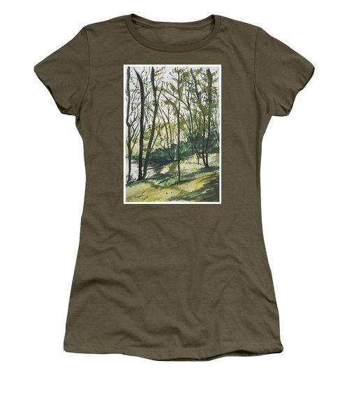 Forest By The Lake Women's T-Shirt (Junior Cut) by Manuela Constantin