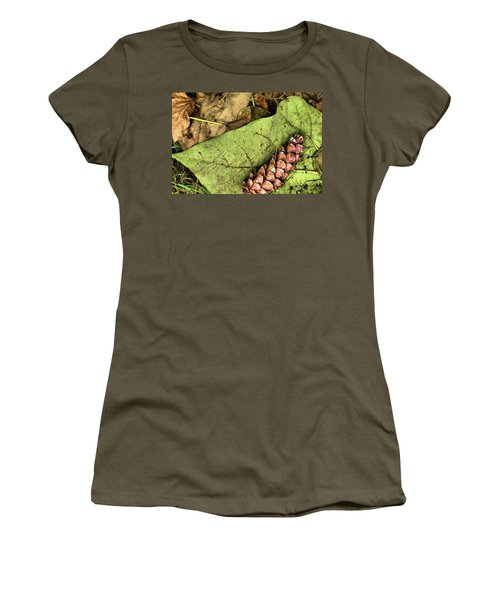 Forest Floor Still Life Women's T-Shirt (Athletic Fit)