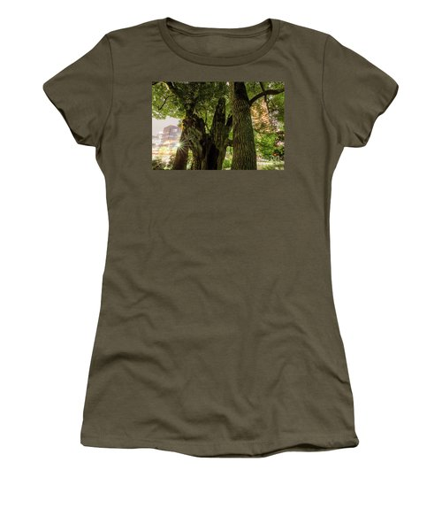 Women's T-Shirt (Athletic Fit) featuring the photograph Forest Of Tokyo by Tatsuya Atarashi