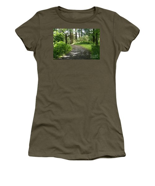 Forest Path. Women's T-Shirt (Athletic Fit)