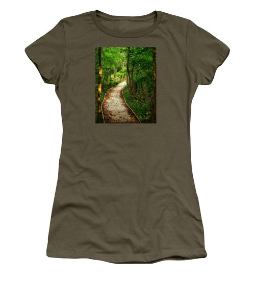 Women's T-Shirt (Junior Cut) featuring the photograph Forest Path by Nikki McInnes