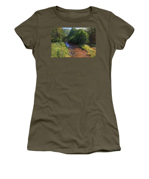 Forest River Summer Day Women's T-Shirt (Athletic Fit)