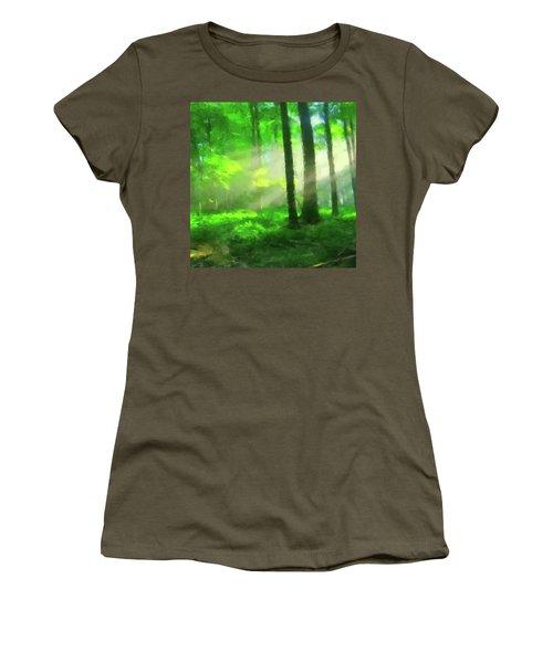 Forest Sunlight Women's T-Shirt (Junior Cut)