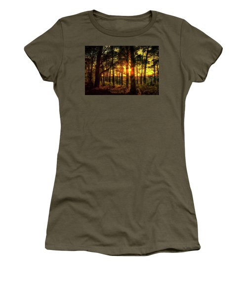 Forest Sunset Women's T-Shirt (Athletic Fit)