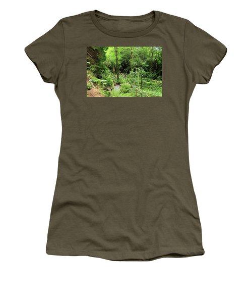 Forest Walk Women's T-Shirt (Junior Cut) by Aidan Moran