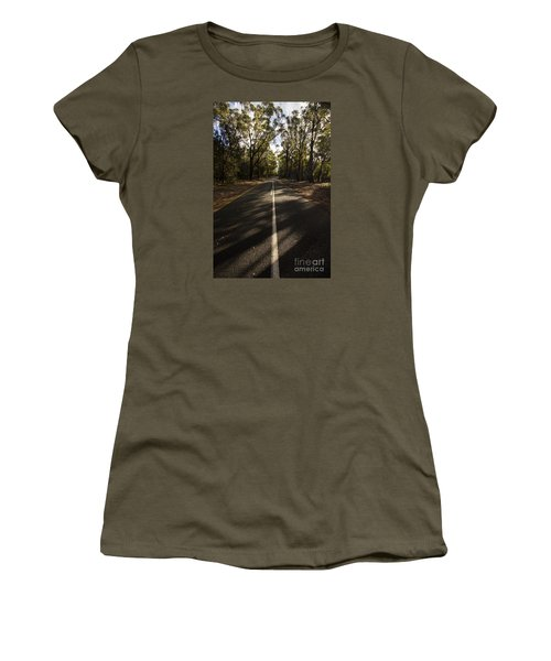Women's T-Shirt featuring the photograph Forestry Road Landscape by Jorgo Photography - Wall Art Gallery