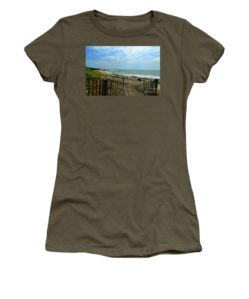 Fort Fisher Beach Women's T-Shirt (Athletic Fit)