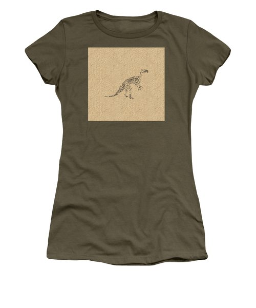 Fossils Of A Dinosaur Women's T-Shirt (Junior Cut) by Anton Kalinichev