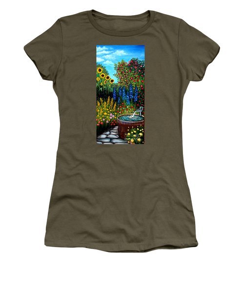 Fountain Of Flowers Women's T-Shirt