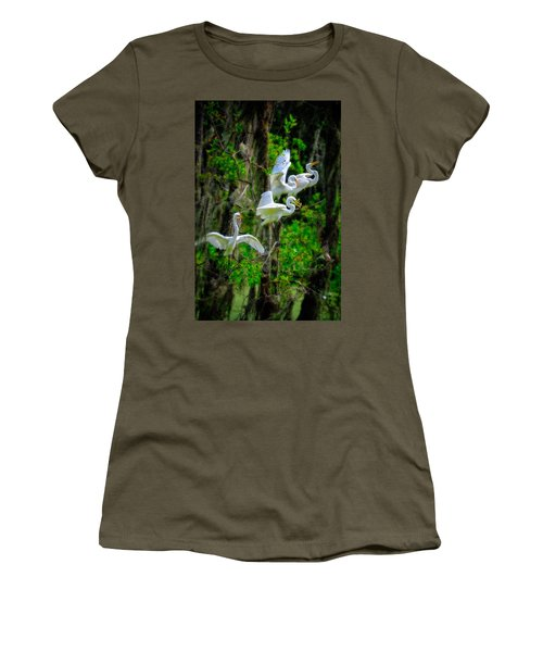 Four Egrets Women's T-Shirt