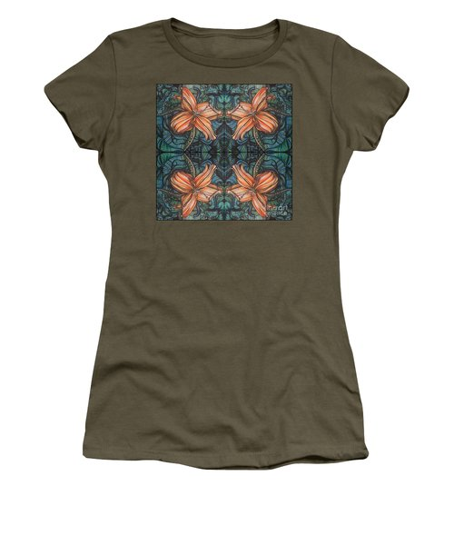 Four Lilies Looking In Women's T-Shirt