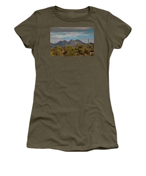 Four Peaks Painterly Women's T-Shirt (Athletic Fit)