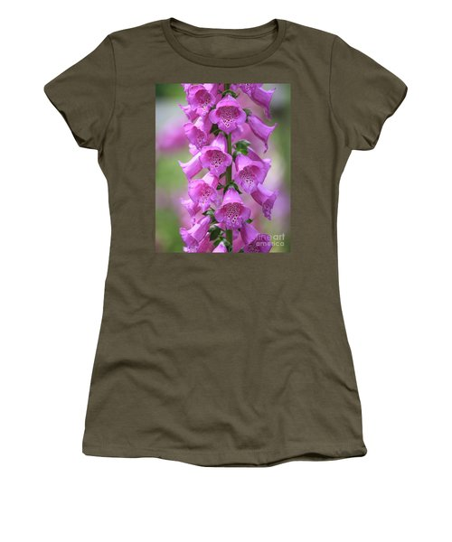 Women's T-Shirt (Athletic Fit) featuring the photograph Foxglove Flowers by Edward Fielding