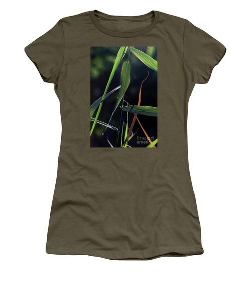 Women's T-Shirt (Athletic Fit) featuring the photograph Fragment by Linda Lees
