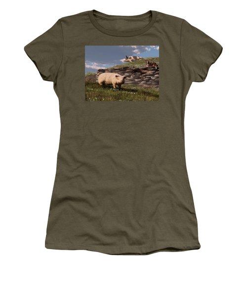 Free Range Pigs Women's T-Shirt