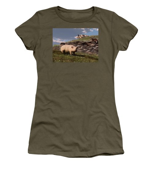 Free Range Pigs Women's T-Shirt