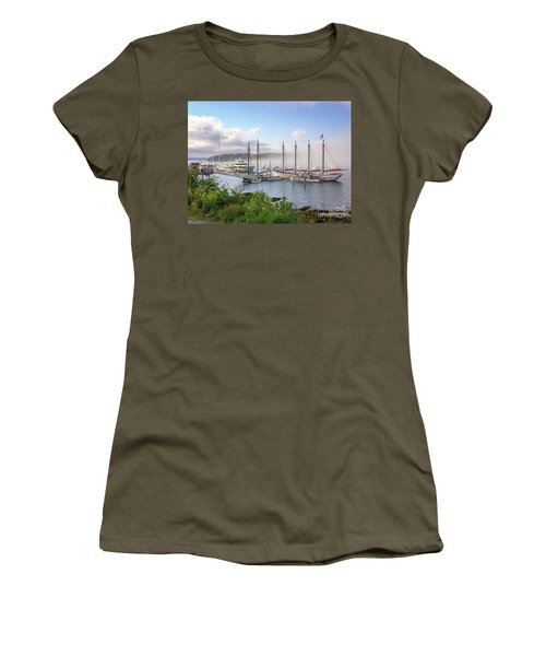 Frenchman's Bay Bar Harbor Women's T-Shirt (Athletic Fit)