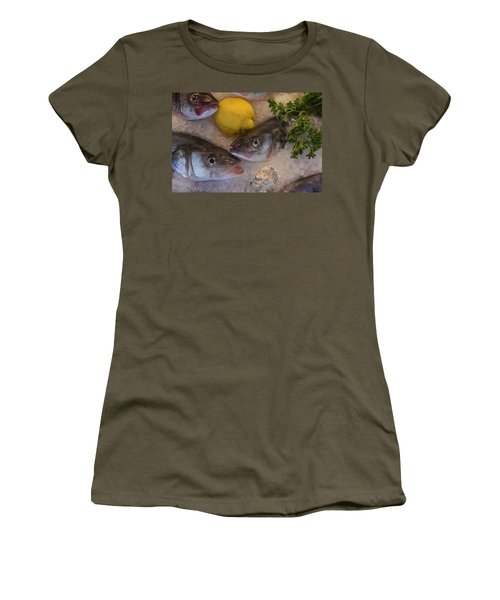 Fresh Fish Women's T-Shirt (Athletic Fit)