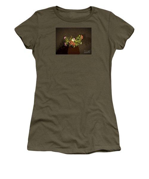 Women's T-Shirt (Junior Cut) featuring the photograph Fresh Flowers  ... by Chuck Caramella