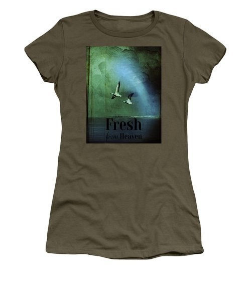 Women's T-Shirt featuring the digital art Fresh From Heaven by Richard Ricci