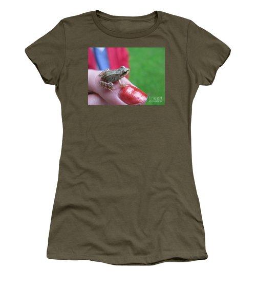 Women's T-Shirt (Junior Cut) featuring the photograph Frog The Prince by Ausra Huntington nee Paulauskaite