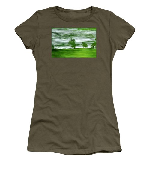 Women's T-Shirt featuring the photograph heading north of Yorkshire to Lake District - UK 2 by Dubi Roman