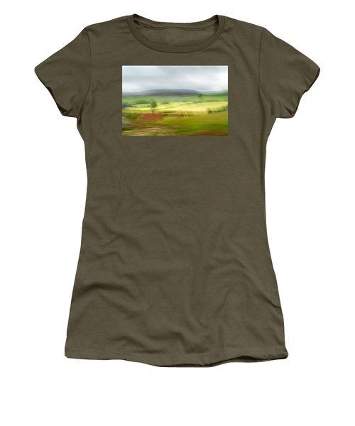 Women's T-Shirt (Athletic Fit) featuring the photograph heading north of Yorkshire to Lake District - UK 1 by Dubi Roman