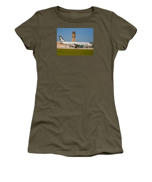 Frontier Airline Women's T-Shirt (Athletic Fit)