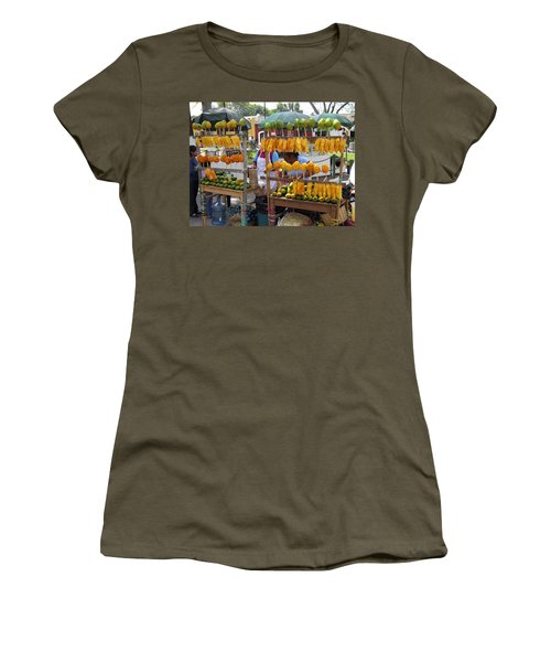 Fruit Stand Antigua  Guatemala Women's T-Shirt (Athletic Fit)