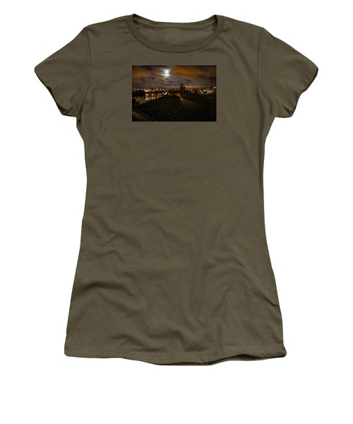 Full Moon Women's T-Shirt (Athletic Fit)